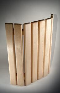 Деревянный абажур для освещения в сауне