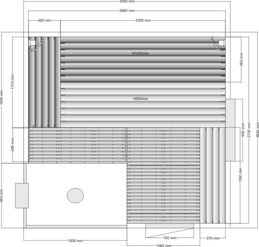 Проект бани с окном и печью