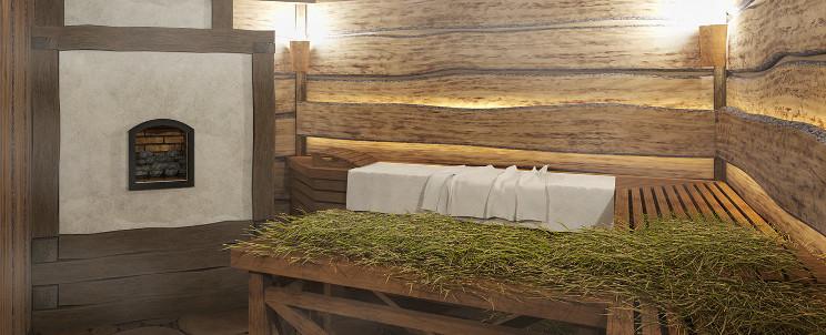 Сенная баня краксен фото